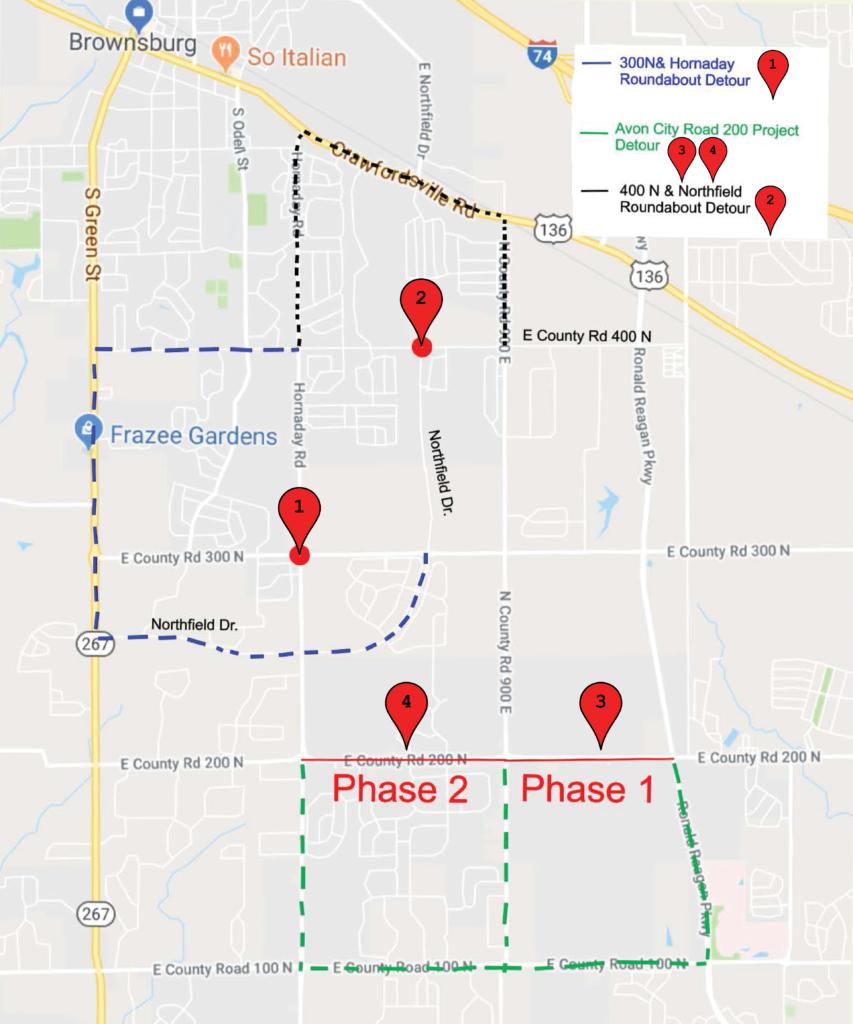 Area Road Closures & Detours | Brownsburg Sentinel